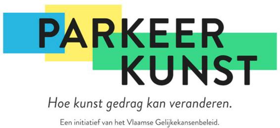 logo Parkeerkunst - Hoe kunst gedrag kan veranderen. Initiatief van het Vlaamse Gelijkekansenbeleid?